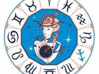 Zodiac sign Sagittarius a beautiful girl