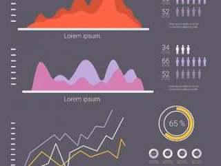 平面数据可视化矢量