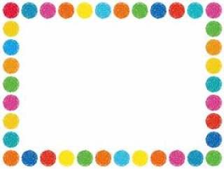 手写的圆点框架边框框架简单的框架