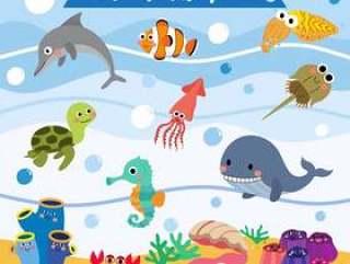 海洋动物卡通