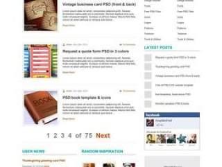 欧美风格企业网站模板七