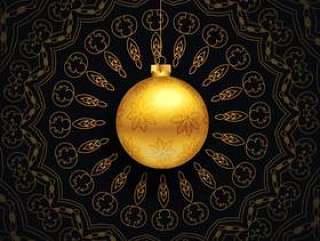 豪华与曼陀罗设计的圣诞祝福