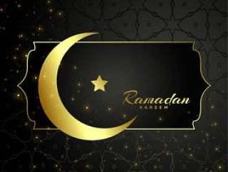 伊斯兰斋月贾巴尔月亮和星星设计