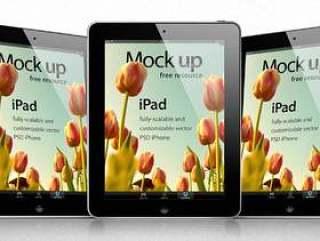 iPad Psd矢量模拟模板