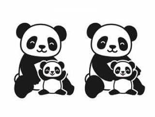 熊猫父母和孩子