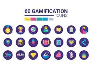 美丽的游戏化图标,以提升您的业务,游戏化图标