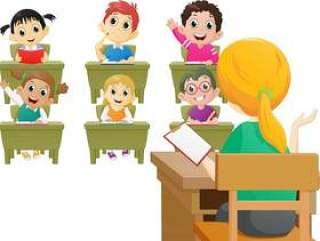 老师在课堂上教课