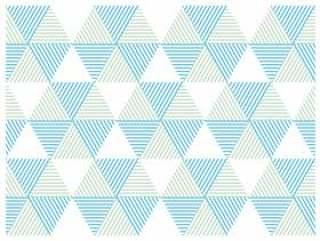 几何图案三角形六角形蓝色&绿色