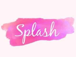 水彩颜料飞溅在粉红色的颜色矢量设计插画