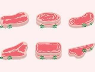 切片小牛肉传染媒介集合