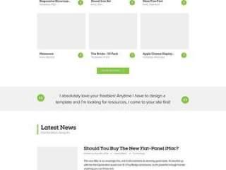 企业网站模板PSD分层二