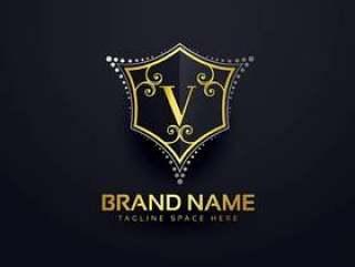字母V标志设计模板