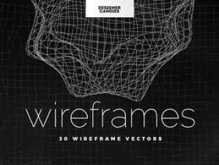 30款独特抽象的3D网格线框线条EPS矢量素材下载