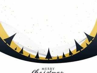 与树木的时尚快乐圣诞节海报设计