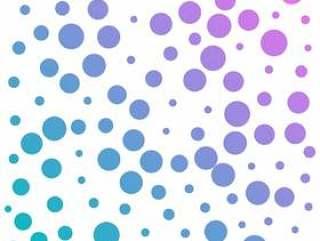 抽象多彩圆点图案背景