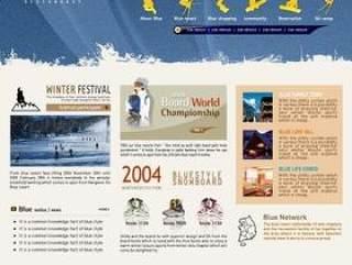 滑雪运动网站模板PSD