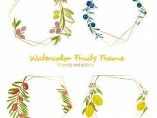 水彩水果框架