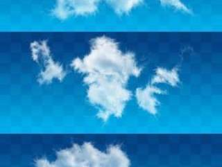 白云朵朵PSD分层高清图片(26—30)