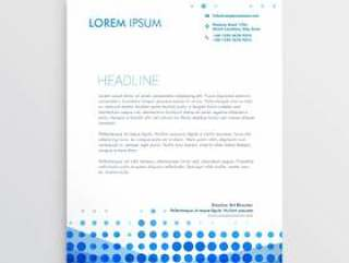 创意蓝色商业信头设计