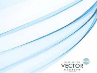 时尚的蓝色波浪抽象背景