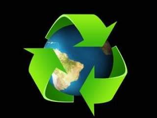 绿色环保循环图标——psd分层素材