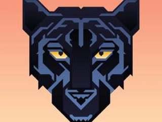 黑豹吉祥物动物字符