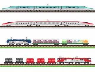 火车组2(新干线&货运火车)