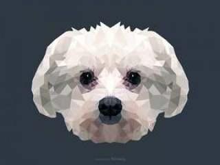 低多矢量设计中的抽象马耳他狗画像