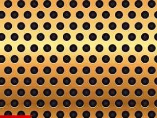 金色圆圈金属质感矢量背景