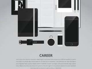 工作搜索和职业广告模板