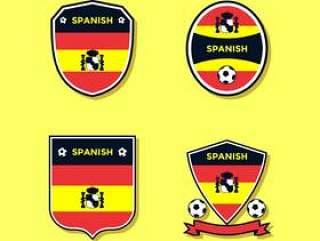 西班牙足球补丁矢量