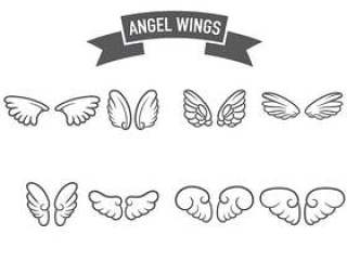 天使的翅膀图标矢量