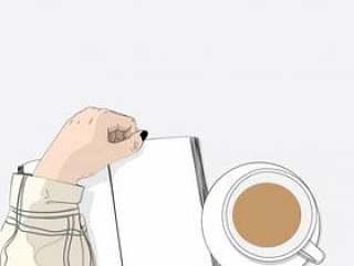 妇女在桌子上看书和咖啡