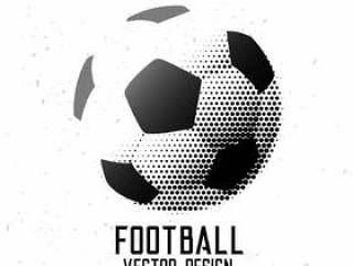 足球足球半色调抽象设计