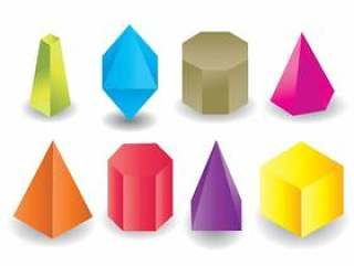 彩色几何棱镜形状矢量