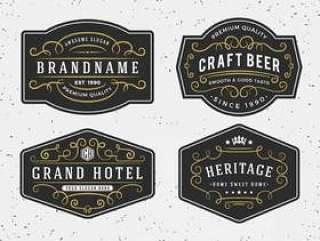 蓬勃发展书法框架设计为标签,横幅,商标,embl