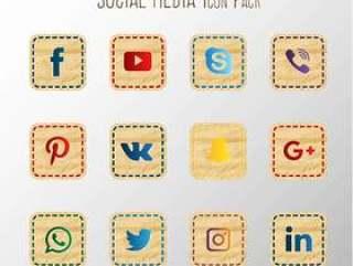 纸社交媒体集合