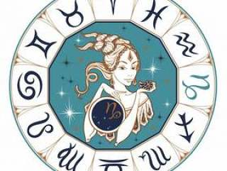 The Capricorn astrological sign as a beautiful girl.