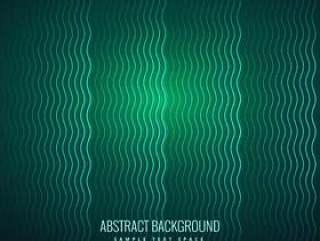 抽象的波浪线绿色背景