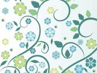 平面设计矢量春天花卉插画
