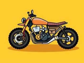 葡萄酒和复古加扰摩托车线