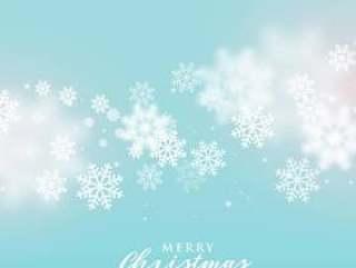 圣诞节冬天季节的美好的软的雪花背景