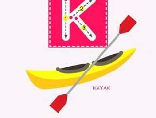 字母K大写跟踪运输词汇