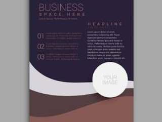 惊人的棕色和紫色的业务手册在A4大小