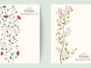 复古花卉背景