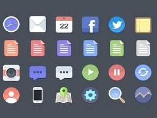 flat-icons风格24枚psd原设计稿图标