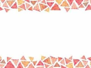 水彩绘图手写的装饰框架矢量ai框架