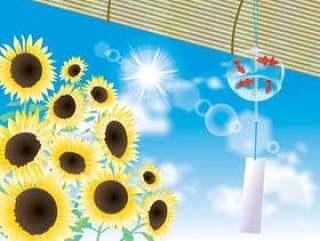 风铃和向日葵