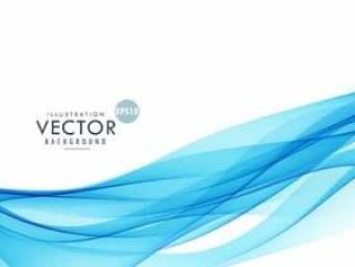 抽象的蓝色波浪线背景海报