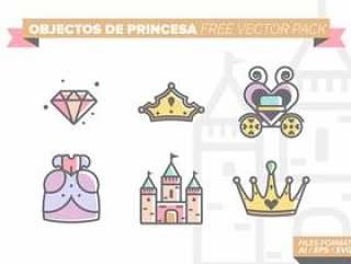 公主城堡 矢量包